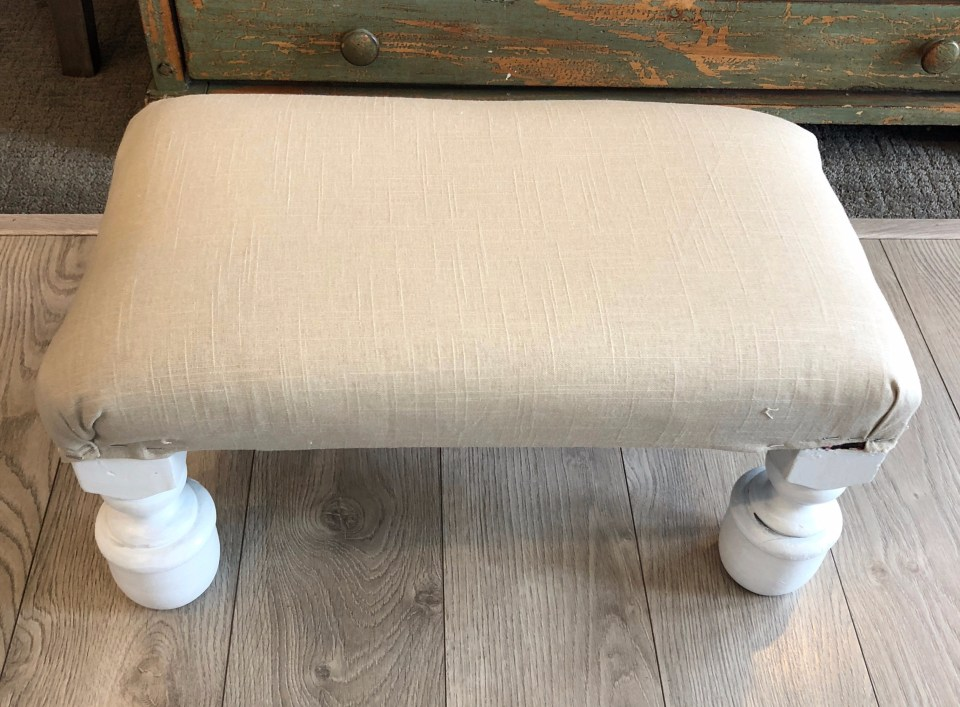 Stool reupholstery