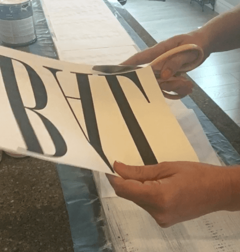 How to make a farmhouse sign on a budget