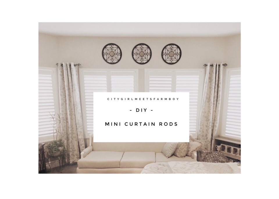 Mini Curtain Rod Tutorial