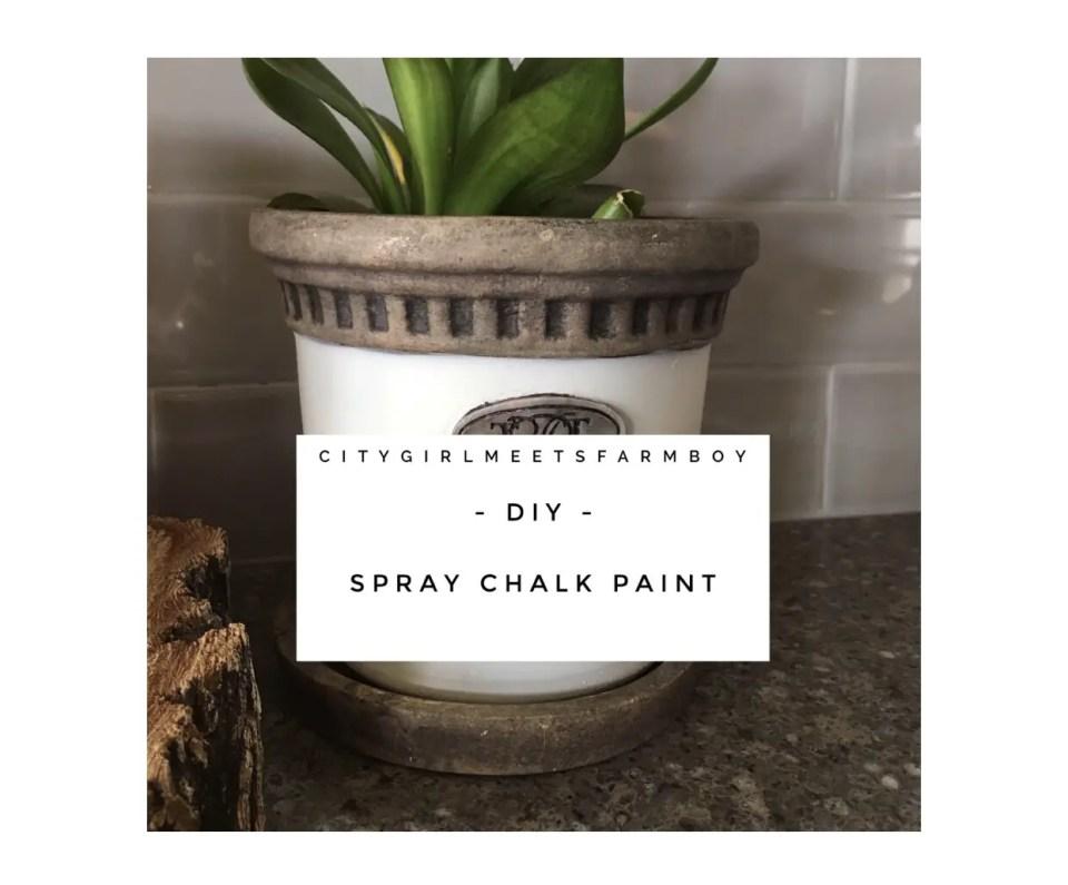Spray Chalk Paint