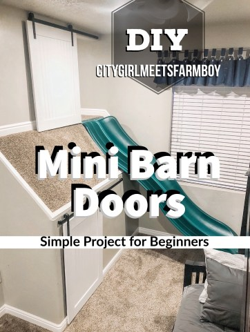 Mini Barn Door DIY Tutorial