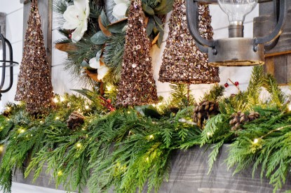 How to create a holiday mantel for Christmas time