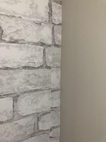 Faux Brick Wallpaper Installation
