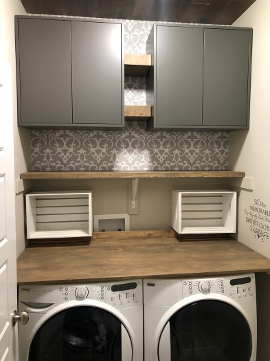 Laundry Room Renovation and Wood Folding Table and Countertop