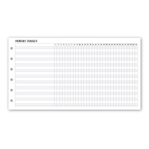 Habit Tracker with Fold-Out Insert for Rings