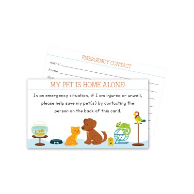 In Case of Emergency cards for you and your pet