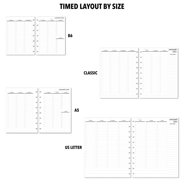Metro Planner Timed layouts
