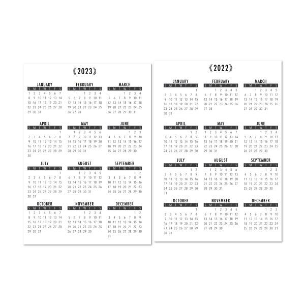 Mini Months laminated