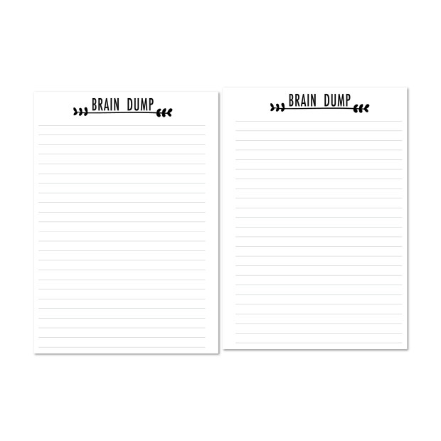 Brain Dump note sheets
