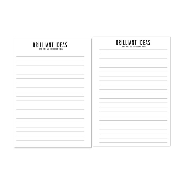 Brilliant Ideas lined paper