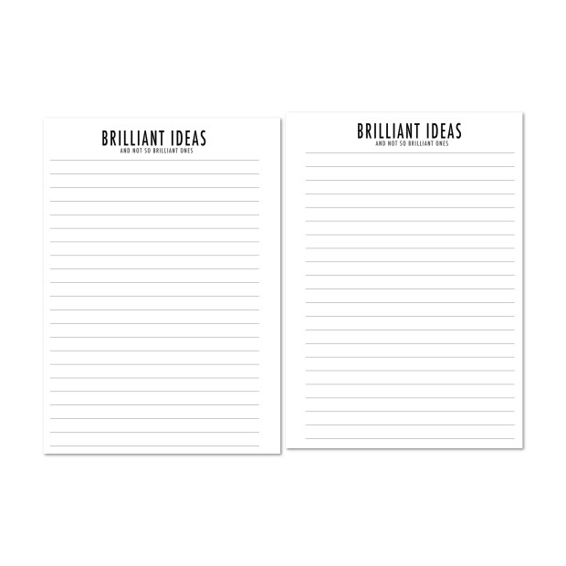 Brilliant Ideas lined paper