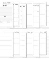 2022 Complete Horizontal Calendar