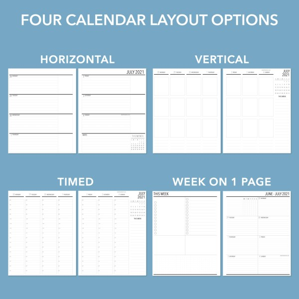 Planner Weekly Layout Choices