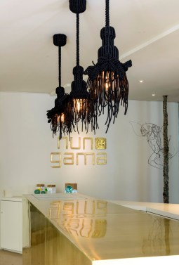 The déco at MAISON Nuno Gama includes works by other famous Portuguese artists