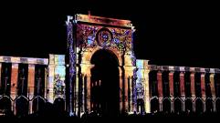 A stunning 3D video projection that toys with the concepts of light and sound