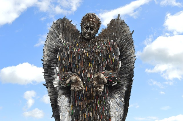 The Knife Angel statue