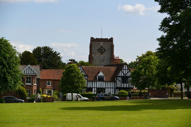 The village green and church at Writtle