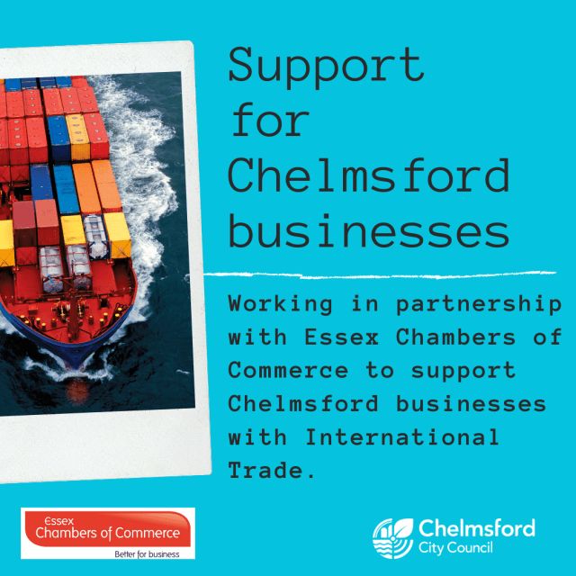Support for Chelmsford businesses with international trade