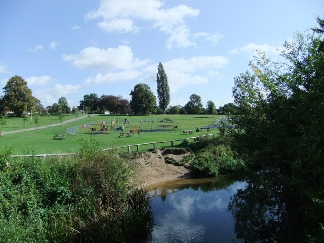Admirals Park play area and river