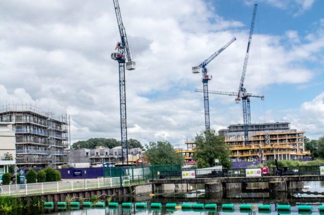 Cranes and construction work
