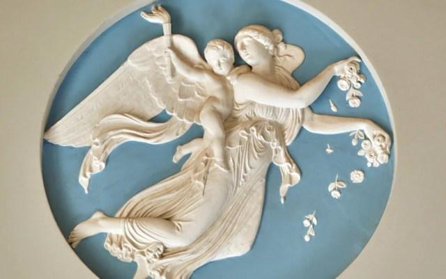 A plaster sculpture at Hylands House