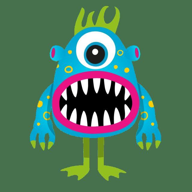 An illustration of inflatable monster 'Chomper'