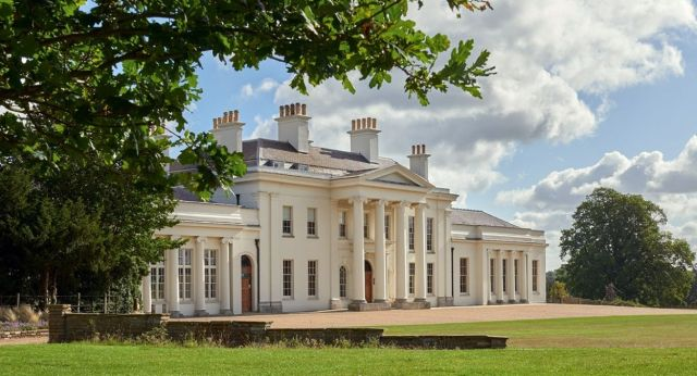 A view of the front of Hylands House