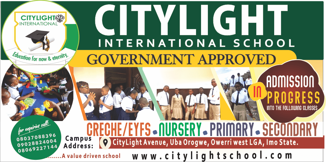 CITY LIGHT SCHOOL BANNER
