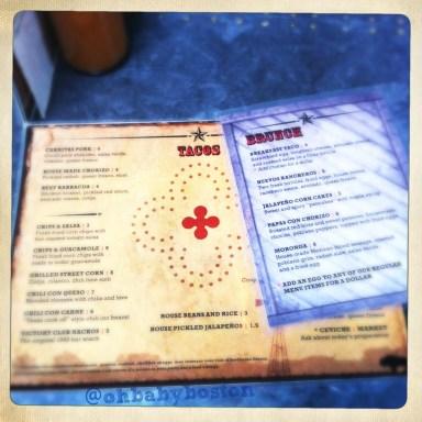 lone star menu tm