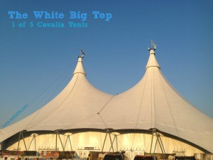 The White Big Top is approximately 106,700 sq. ft., larger than a hockey rink.