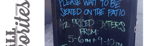 My Kind of a Sign: 1/2 Price Oysters in the South End