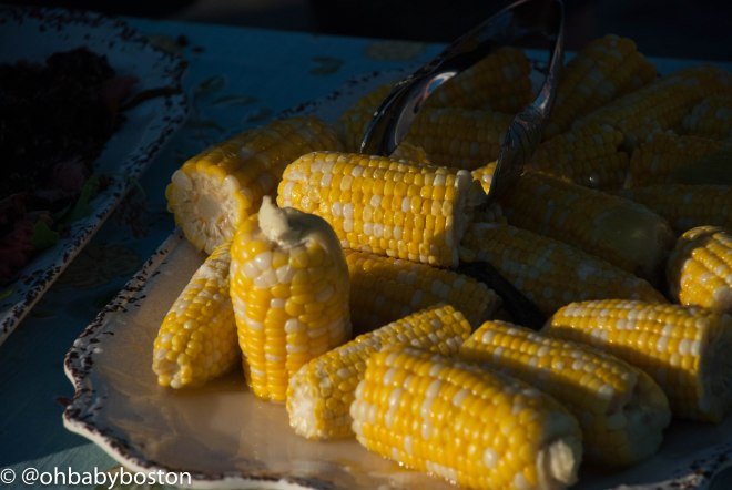 The farmers on shore have been harvesting their corn. There is nothing like freshly grown corn and it is perfect this time of year.