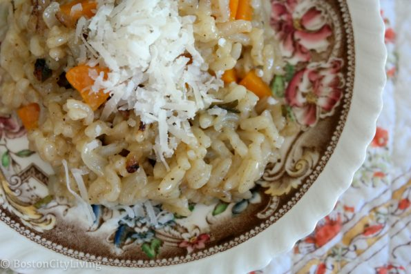 Risotto made with an Instant Pot for Thanksgiving leftovers freezer meals.