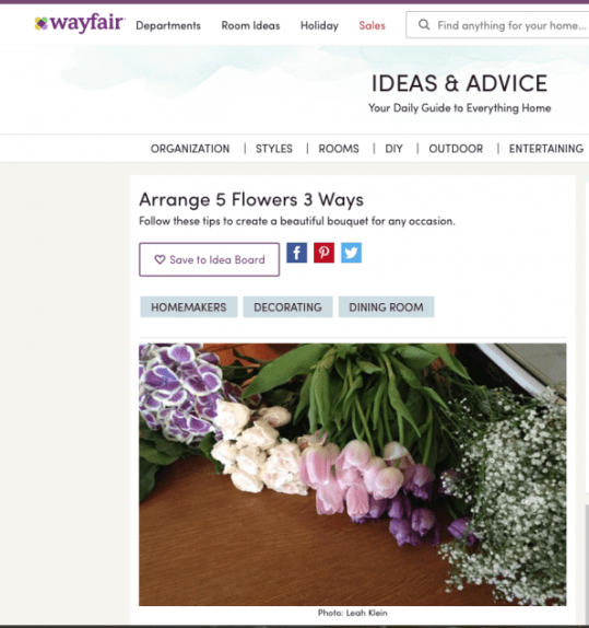 Wayfair.com Blogger program