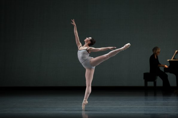 Kathleen Breen Combes in Justin Peck's In Creases; photo by Rosalie O'Connor; courtesy of Boston Ballet