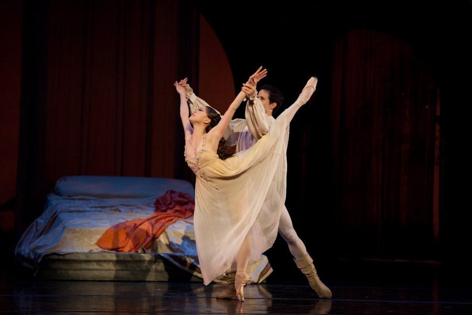 Misa Kuranaga and Nelson Madrigal in John Cranko's Romeo & Juliet; photo by Rosalie O'Connor, courtesy Boston Ballet