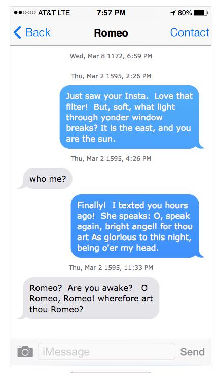 Romeo texts Juliet