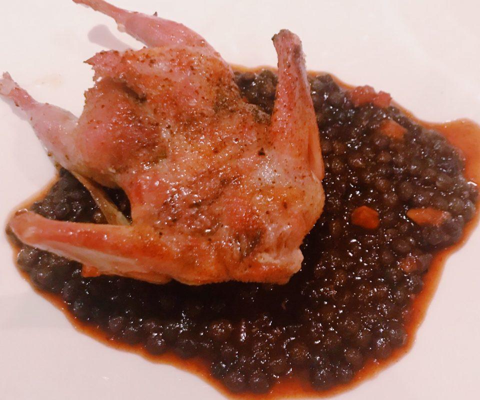 quail and lentils