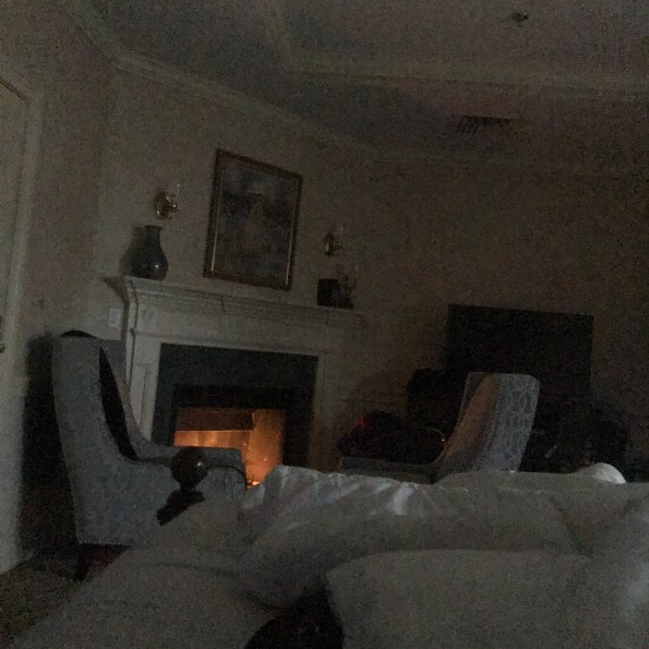 Snuggling by the fire at the Dan'l Webster Inn in Sandwich, MA