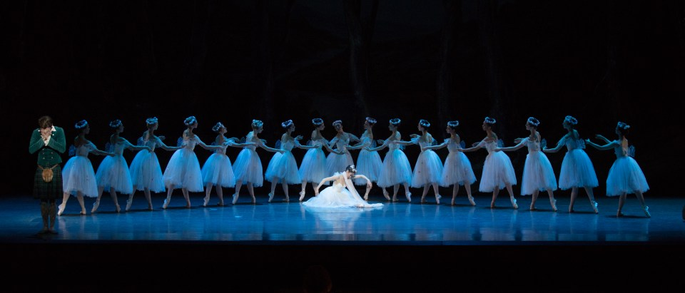 Boston Ballet in August Bournonville's La Sylphide; photo by Rosalie O'Connor, courtesy Boston Ballet
