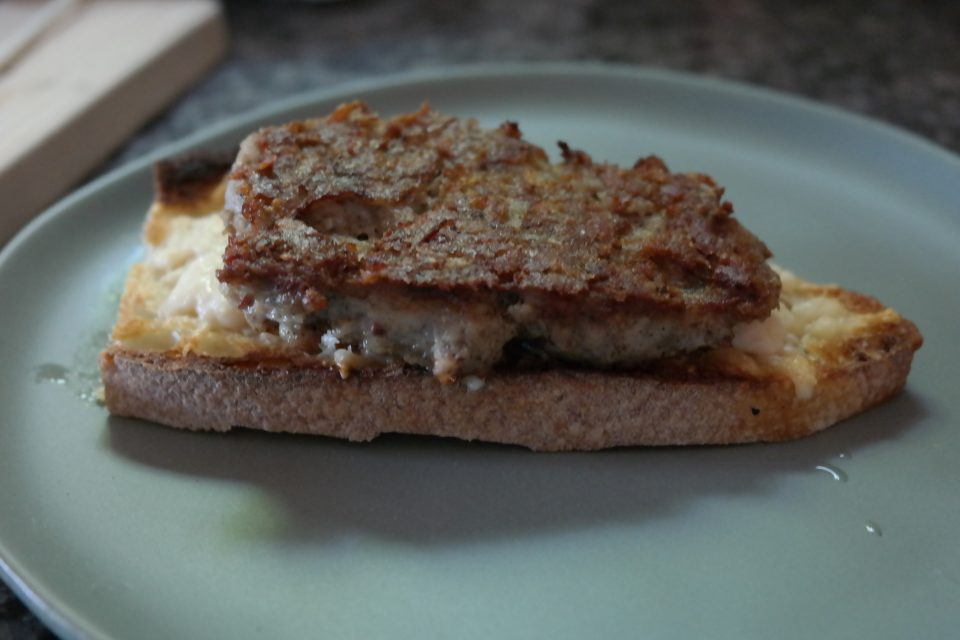 Breakfast sausage for the ultimate breakfast grilled cheese