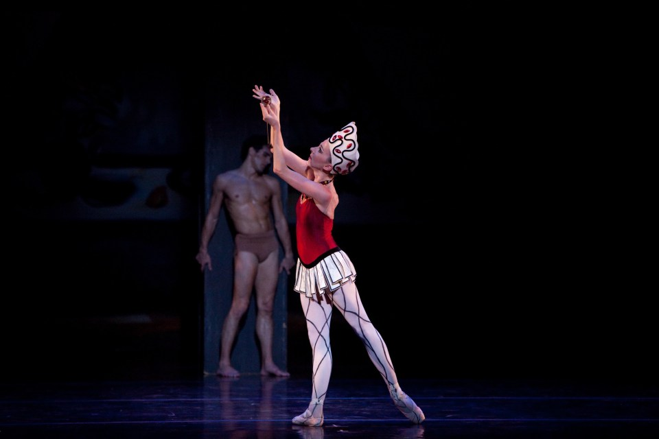Dress rehearsal photography of Prodigal Son from the program Diaghilev's Ballets Russes Centennial Celebration 2009