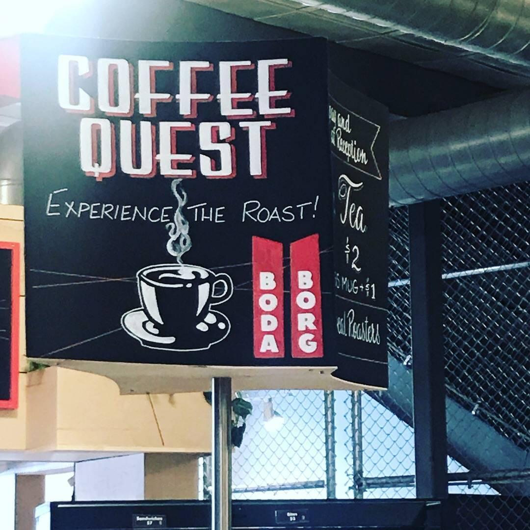 Boda Borg Coffee station.