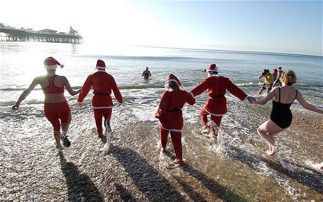 Božični skok v vodo