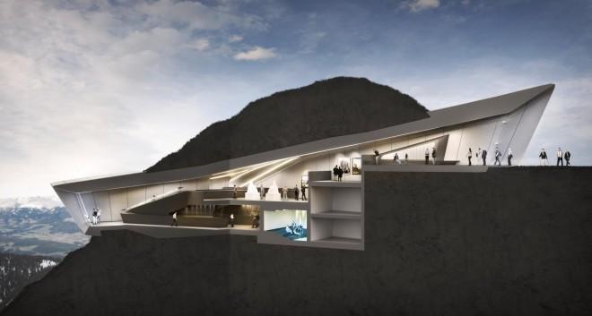 Muzej bo vklesan v dejansko gorsko pobočje.
