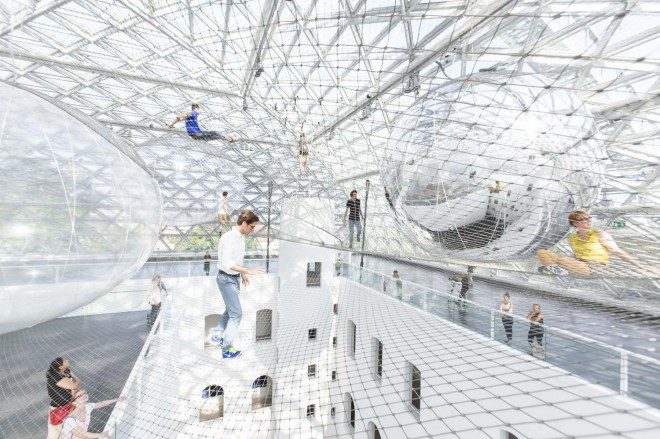 Igrišče za velike otroke kar 25 metrov visoko v zraku.