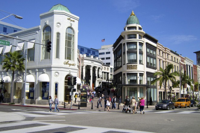Rodeo Drive, Beverly Hills. Foto: soulsociety101.com