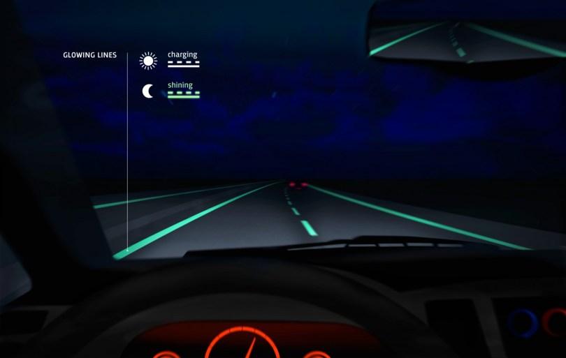Svetleče oznake vodnega pasu izboljšujejo vidljivost ponoči.