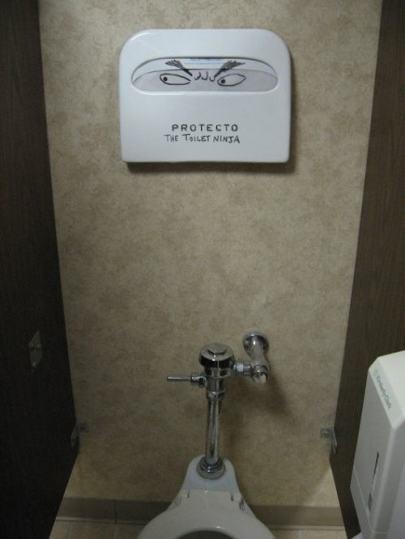 Po ninjah v kinematografih imam sedaj tudi toaletne ninje.