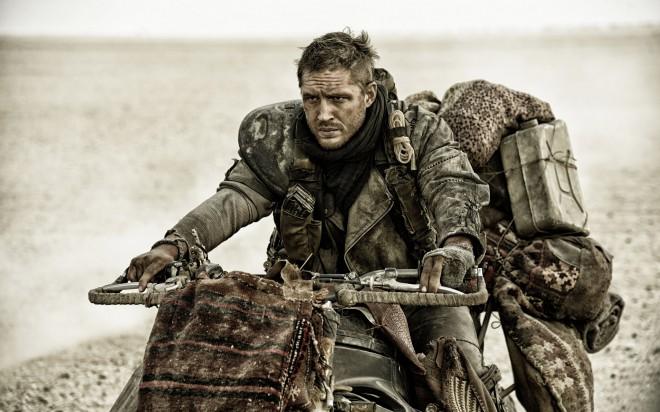 Tom Hardy v filmu Mad Max: Fury Road.